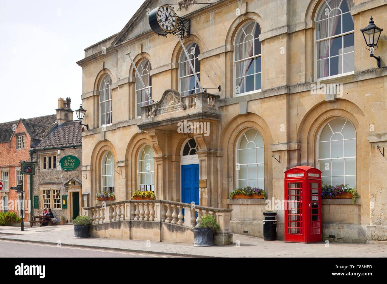 Town Hall Corsham Wiltshire England Stock Photo