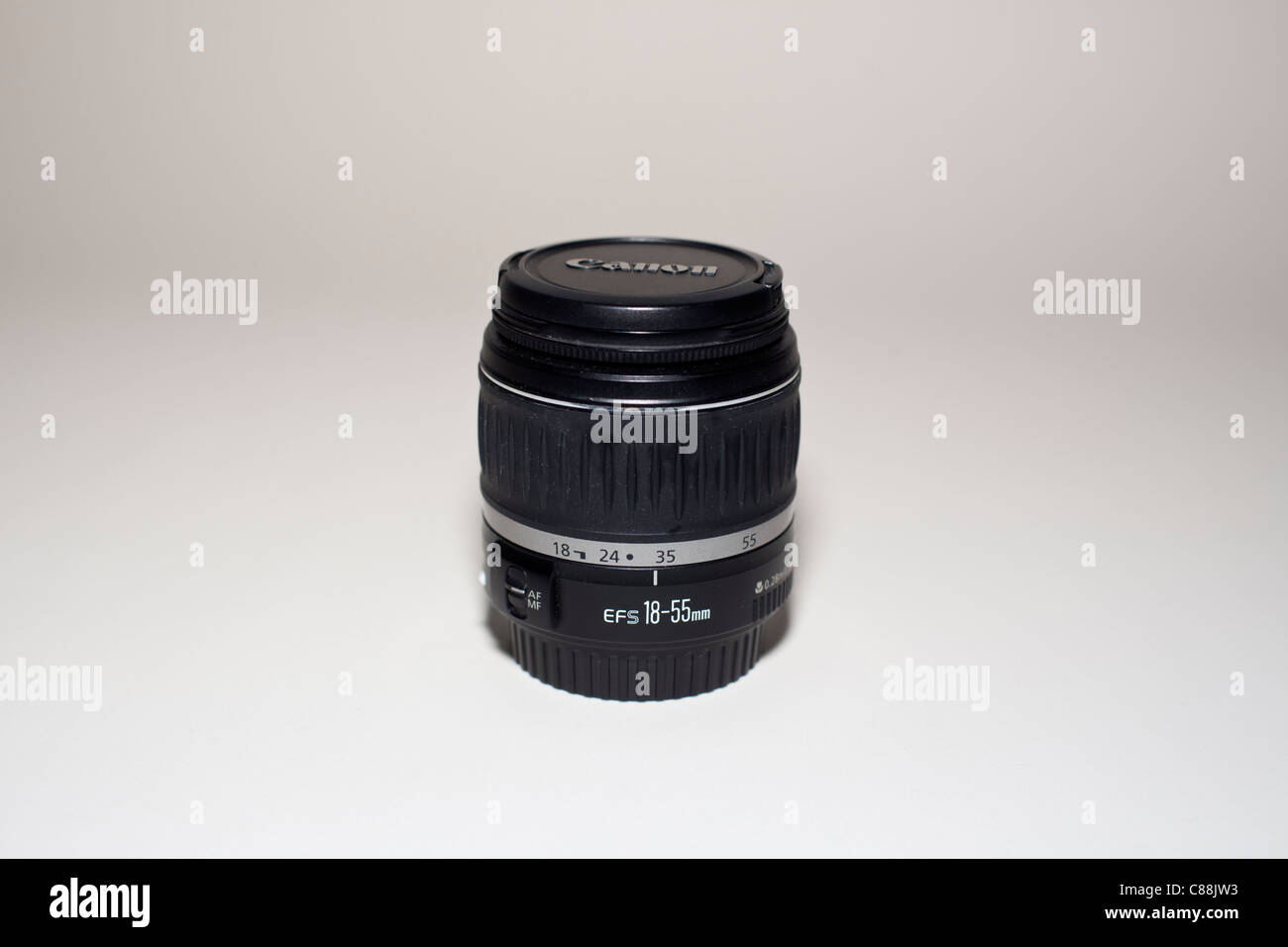 Canon EF-S 18-55mm f/3.5-5.6 photography lens Stock Photo