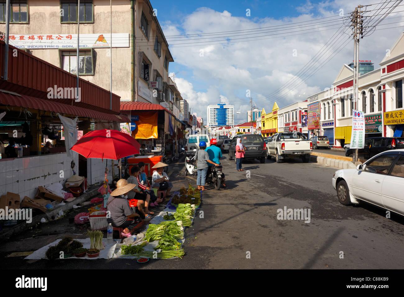 Jalan Bendahara, Miri, Sarawak, Malaysia, Asia - Stock Image
