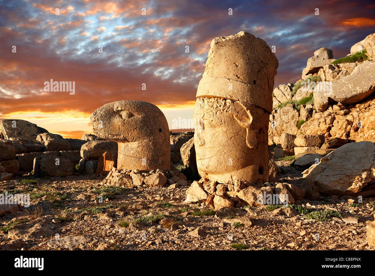 Mount Nemrut Archaeological site Turkey - Adıyaman  tomb statues - Stock Image