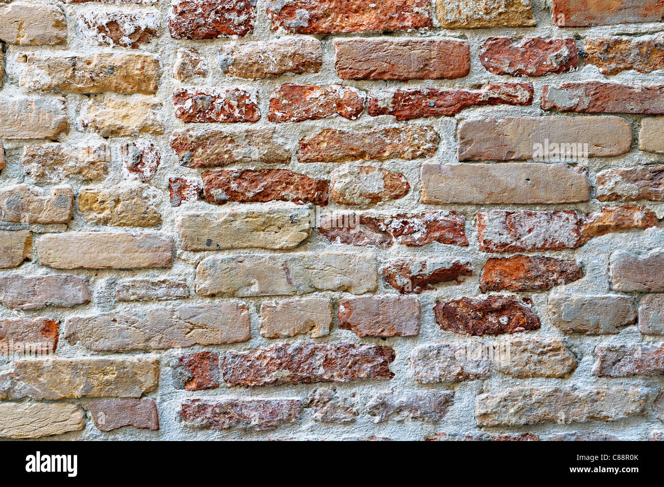Old Brick Wall - Stock Image