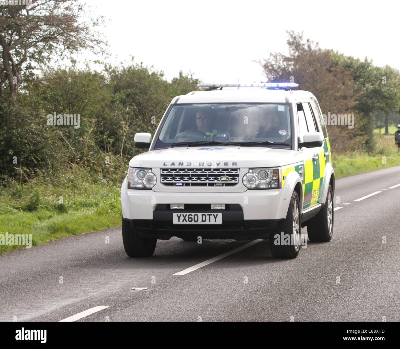 Paramedic 4x4 fast response vehicle - Stock Image