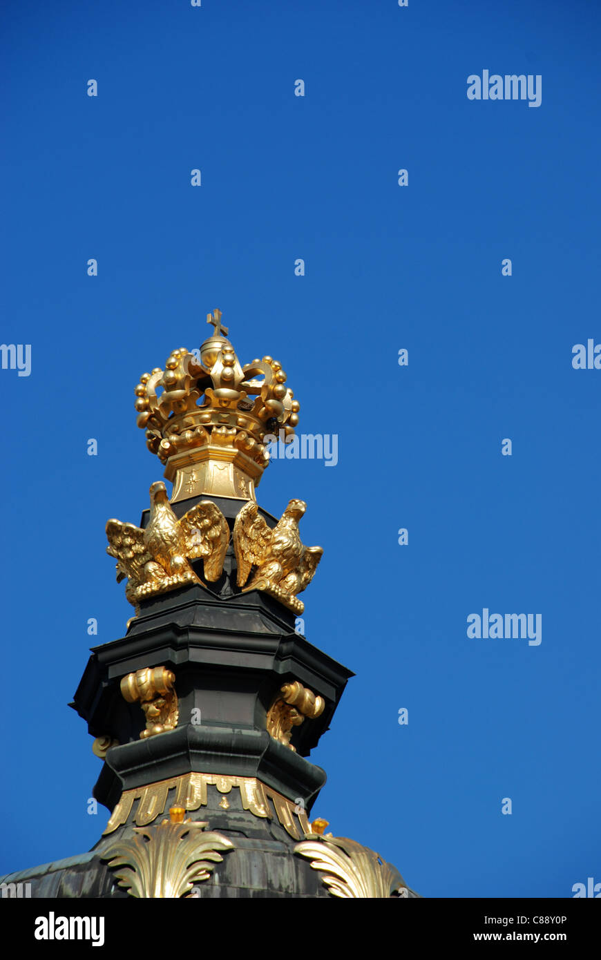 Crown Gate at the Zwinger in Dresden - Stock Image