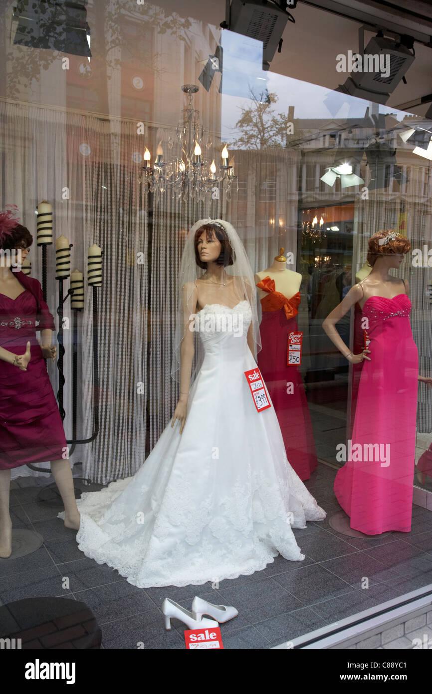 0e5340489229e0 wedding dresses in the window of a bridal shop belfast city centre northern  ireland uk