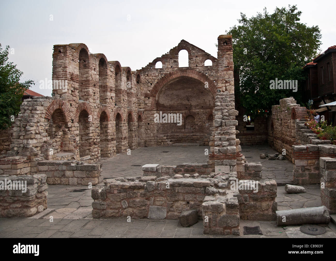 Church of Christ Panticrator Nessebar Bulgaria - Stock Image