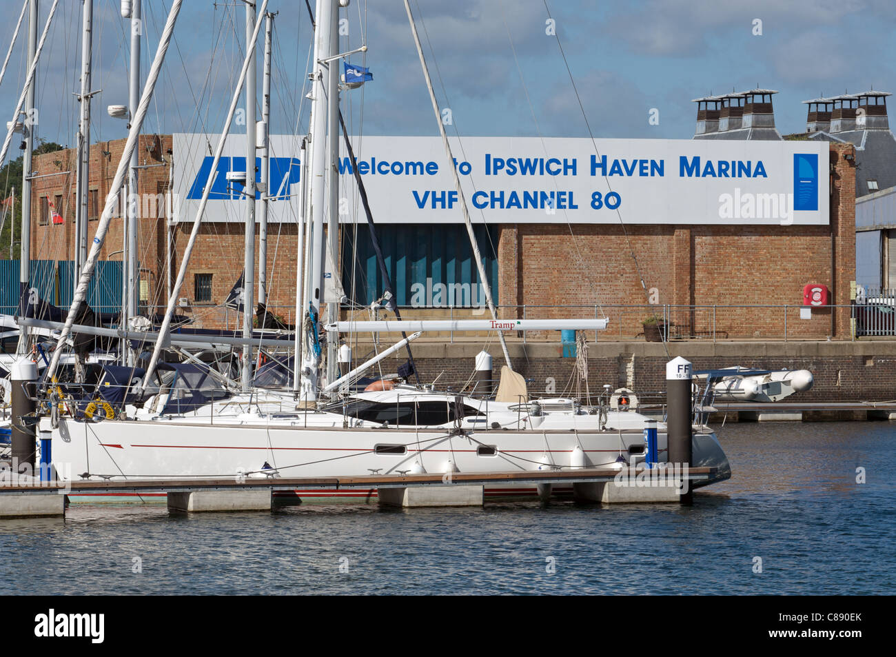 Ipswich Haven Marina, Suffolk, UK. - Stock Image