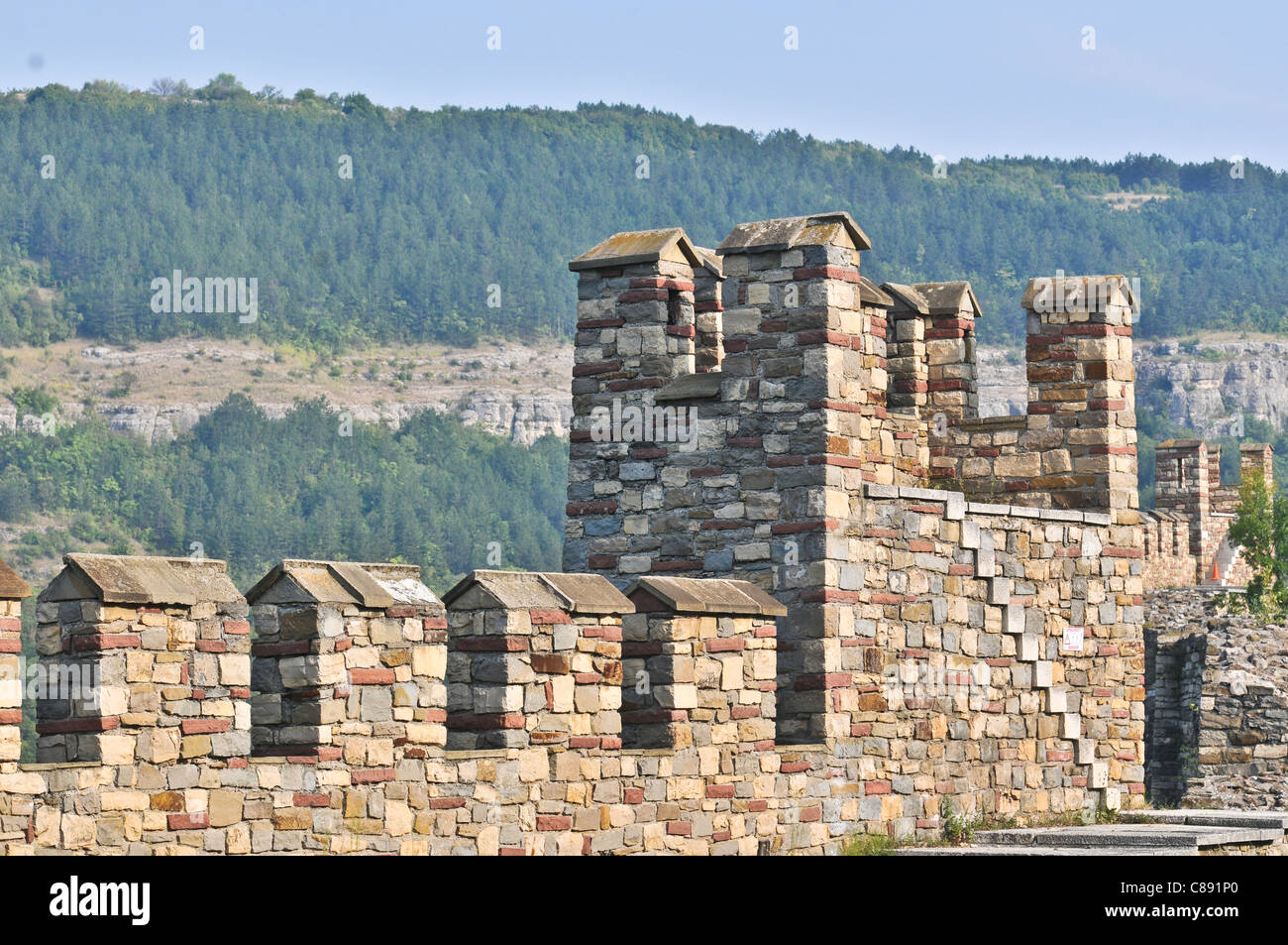 Tsarevets medieval fortress in Veliko Tarnovo, Bulgaria Stock Photo