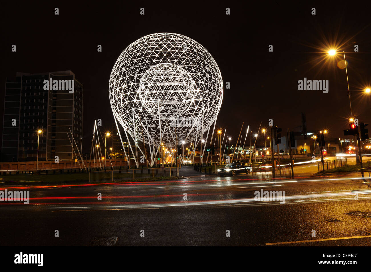 New sculpture in Belfast called 'Rise'. - Stock Image