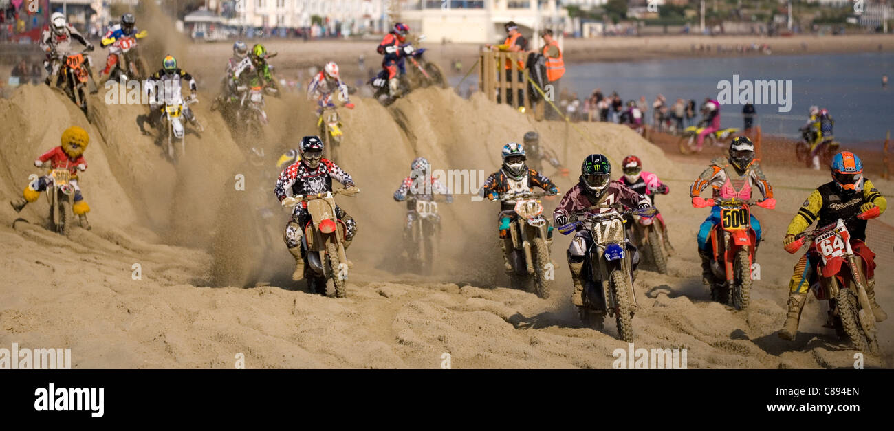 weymouth beach motocross october 16th 2011 - Stock Image