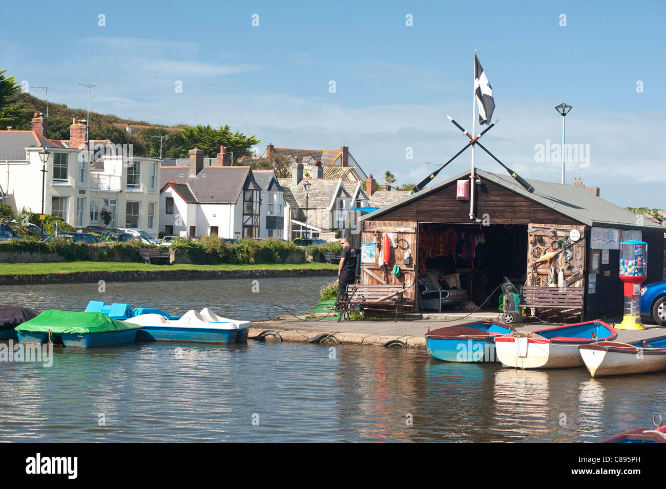 Boat House Bude Canal - Stock Image