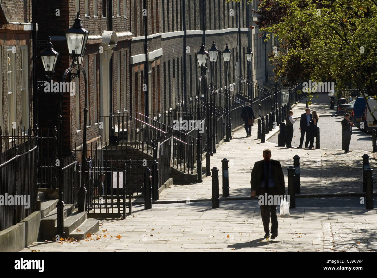 Kings Bench Walk, Inner Temple. Inns of Court. Solicitors Chambers buildings. London UK  HOMER SYKES - Stock Image