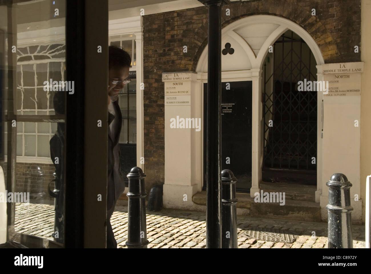 Middle Temple Lane. Inns of Court. London UK.  HOMER SYKES - Stock Image