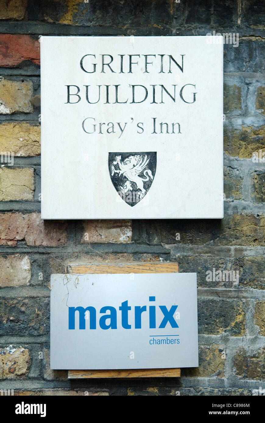 Matrix Chambers Griffin Building Grays Gray's Inn London UK  HOMER SYKES - Stock Image