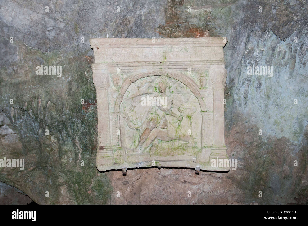 The Duino Mithraeum areological site - Stock Image