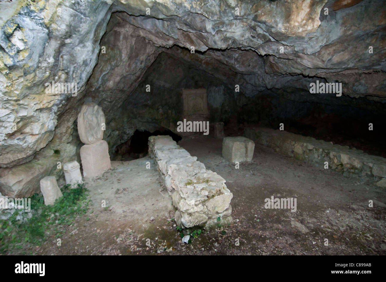 The Duino Mithraeum archeological site - Stock Image