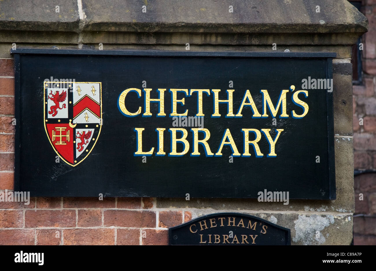 Chetham's Library + School of Music, Long Millgate, city centre, Manchester, UK - Stock Image