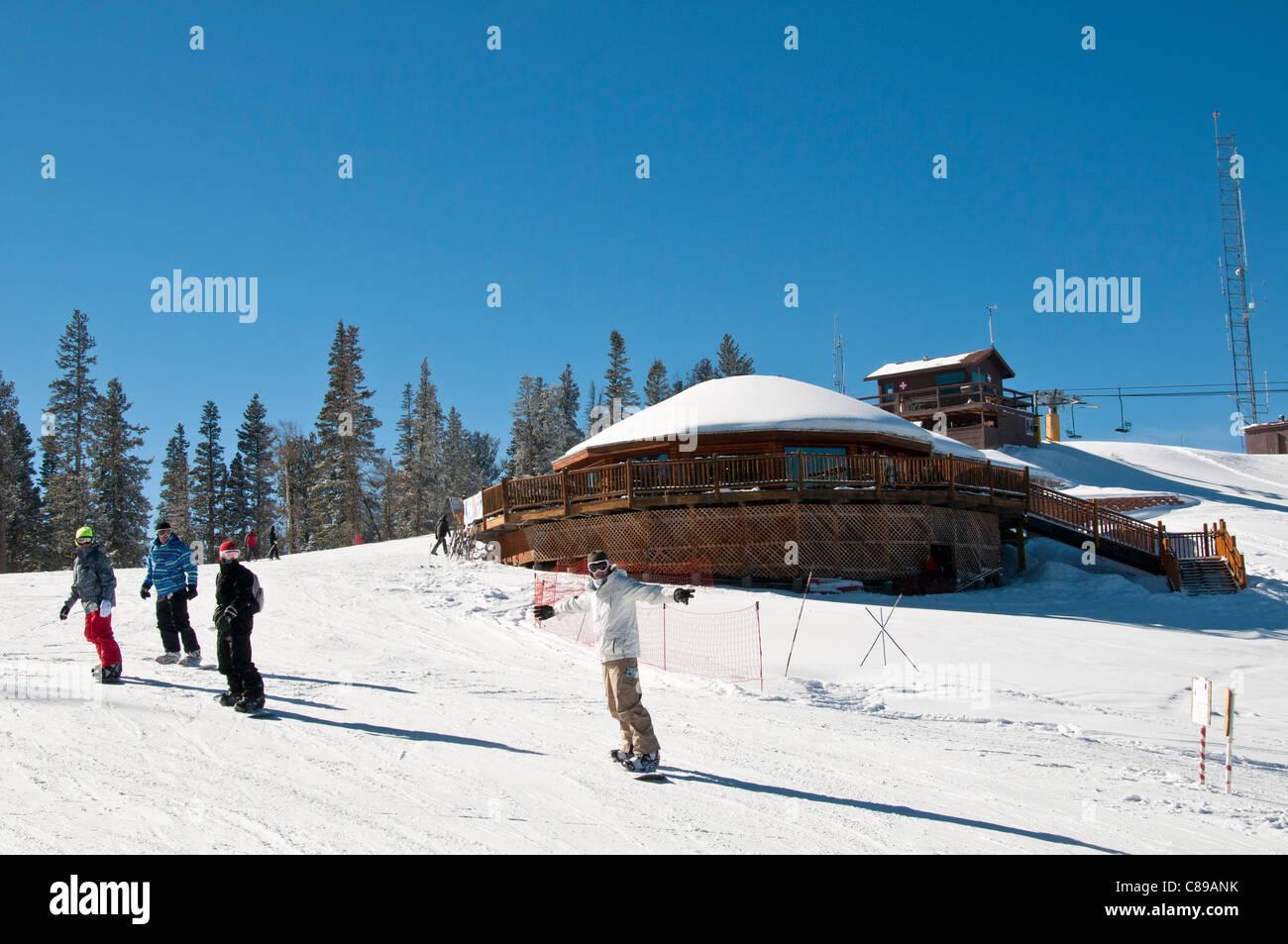 Summit Haus Restaurant, Angel Fire Resort, Angel Fire, New Mexico. - Stock Image