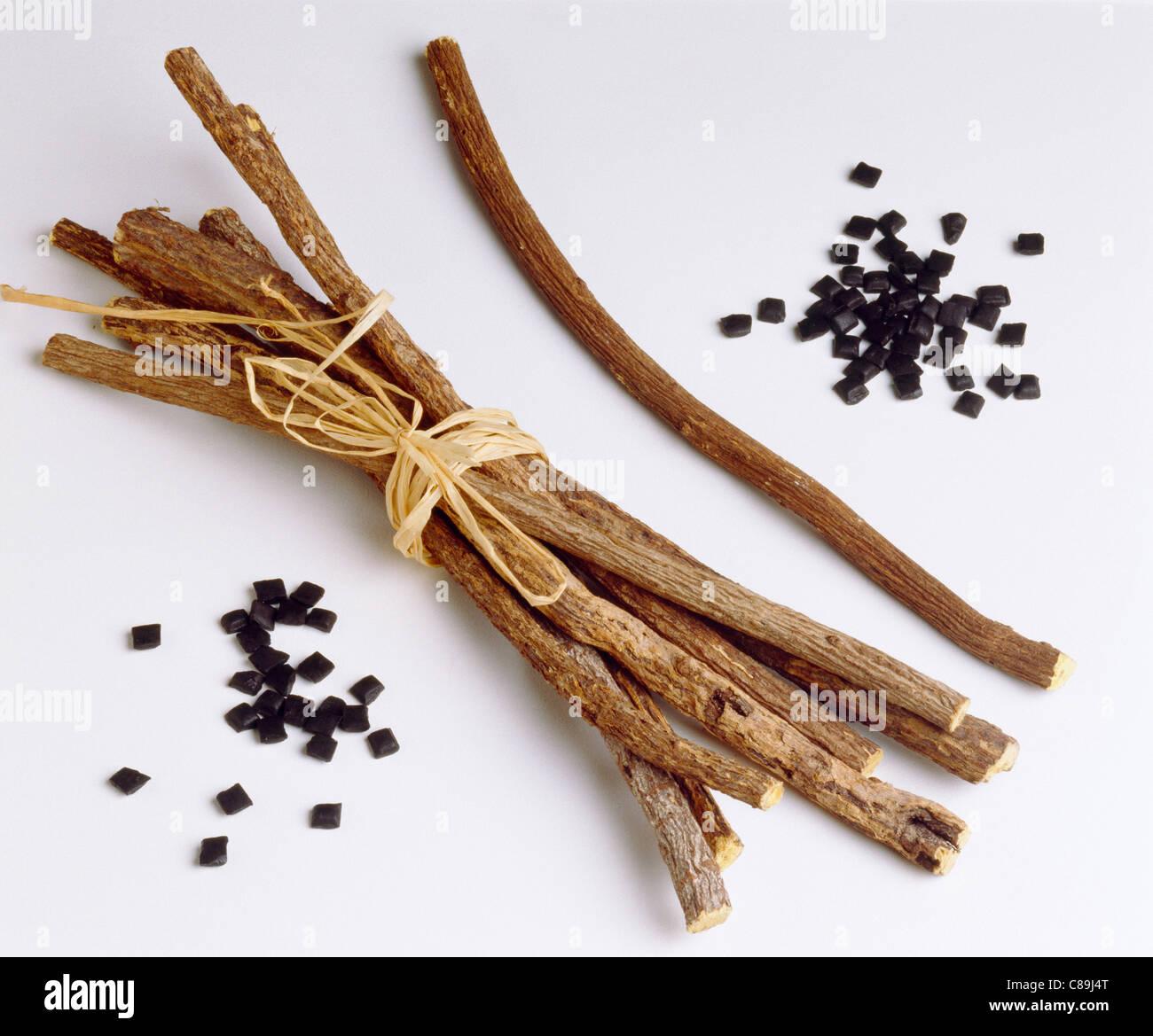 Sticks of liquorice - Stock Image