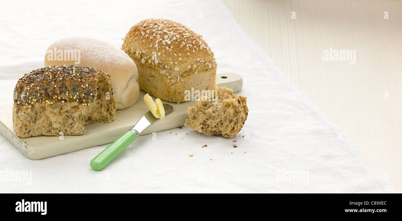 Mini Bead Loaf selection - Stock Image