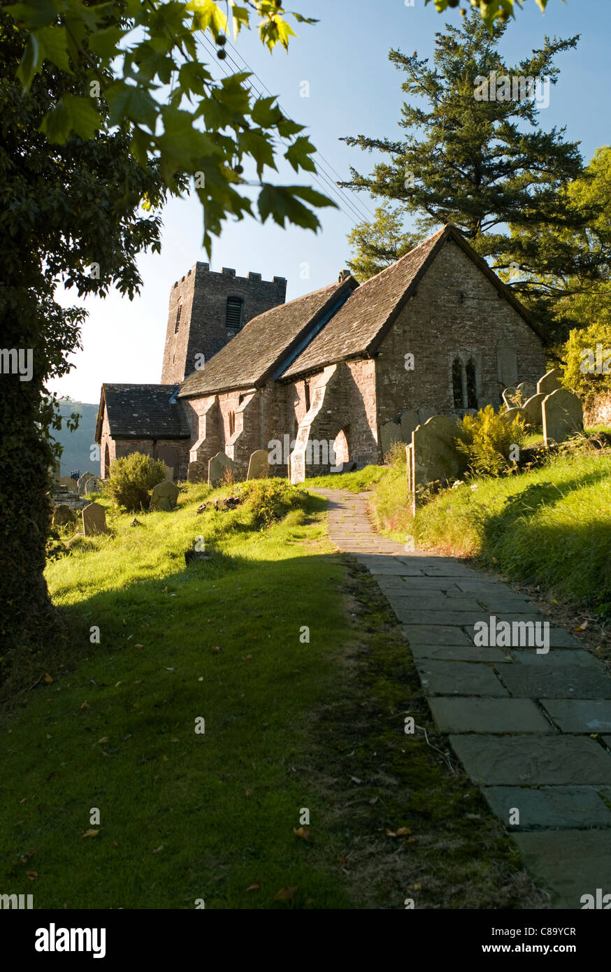 St Martin's church, Cwmyoy, Monmouthshire, Wales UK. - Stock Image