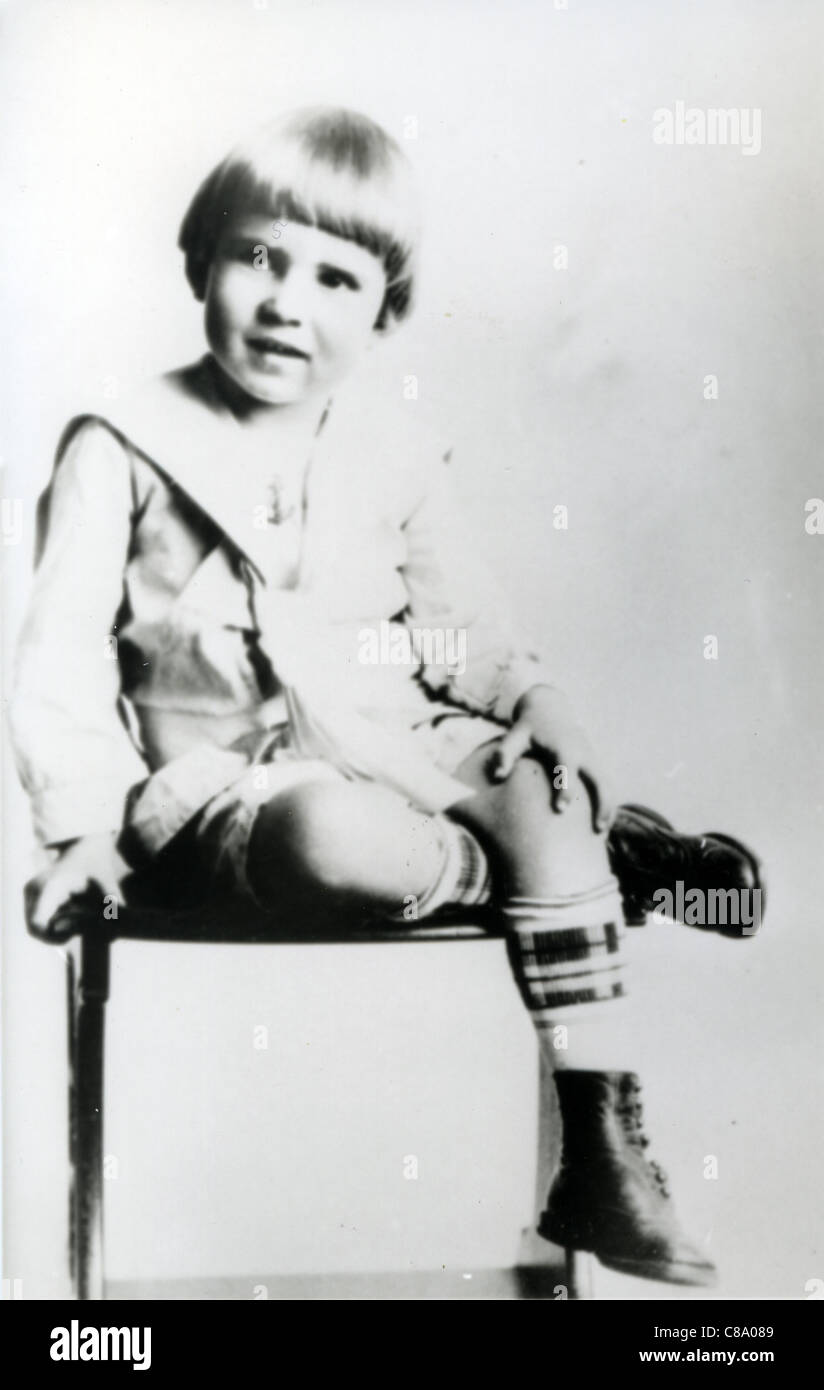 RICHARD NIXON (1913-1994) 37th US President as a child - Stock Image
