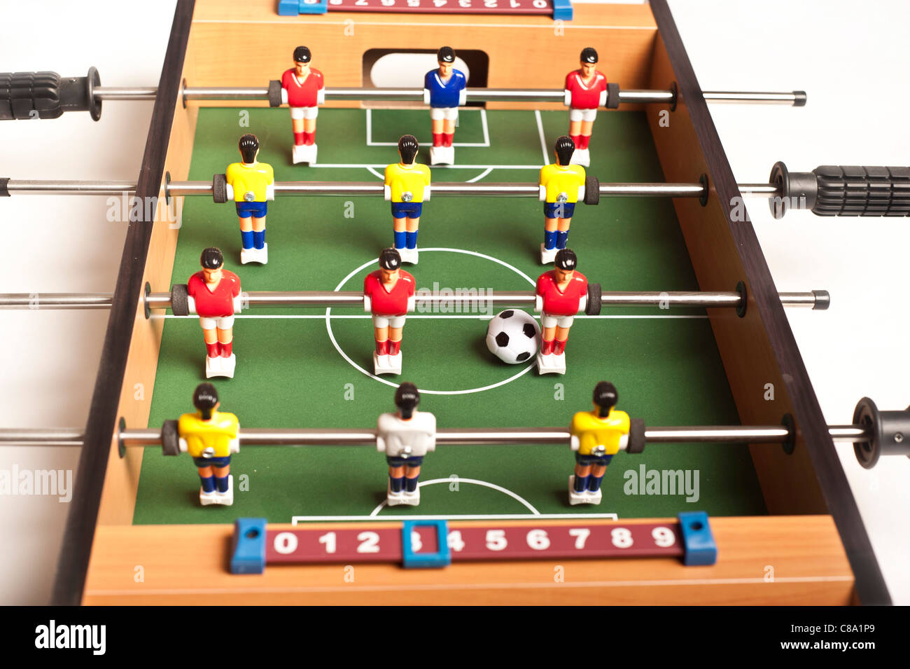 table football game or fussball - Stock Image