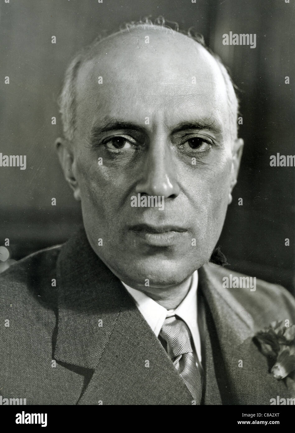 PANDIT JAWAHARLAL NEHRU (1889-1964)  Prime Minister of India about 1950 - Stock Image