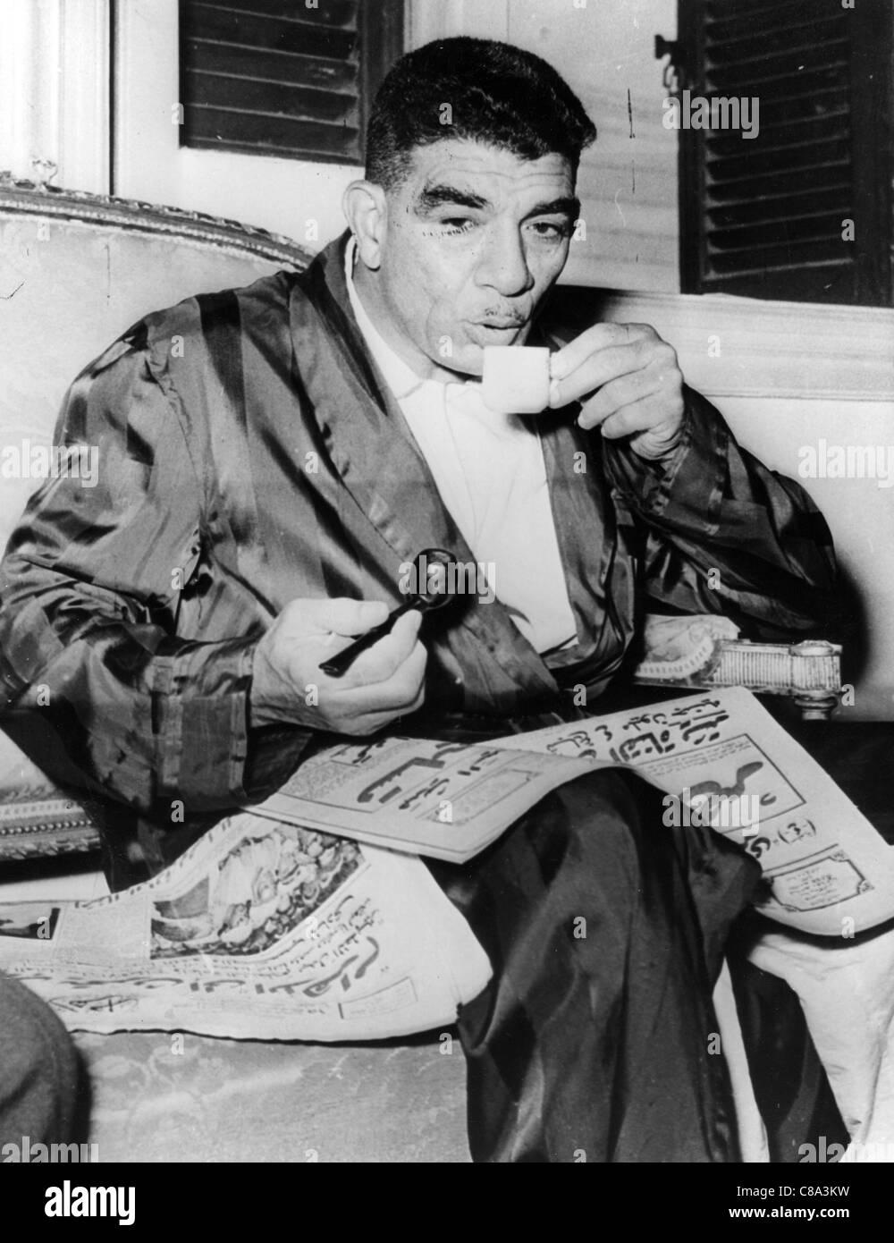 MUHAMMAD NAGUIB (1901-1984) first President of Egypt - Stock Image