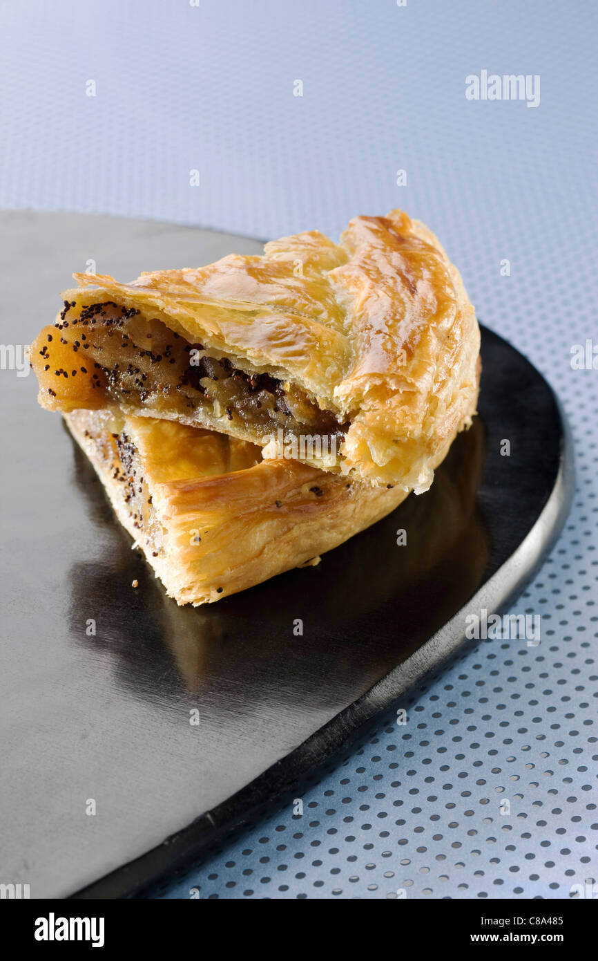 Apple,pear and poppyseed Galette des rois - Stock Image