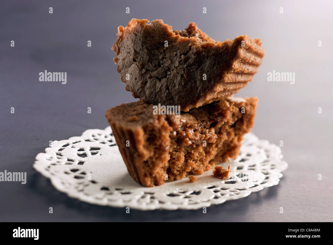 Individual chocolate cake - Stock Image