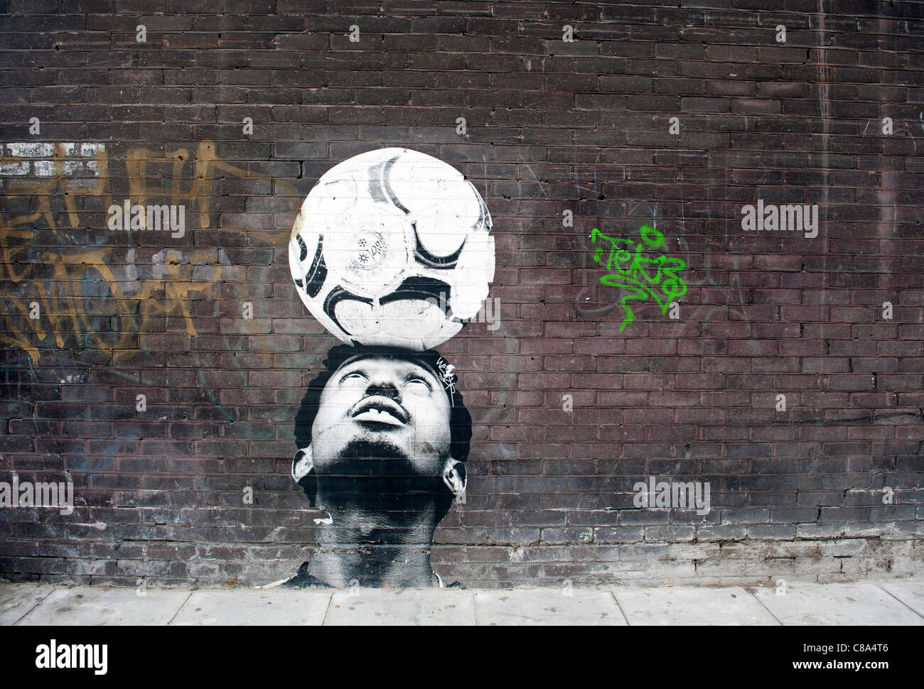 Street art/graffiti on the streets of the east end of London, UK - Stock Image