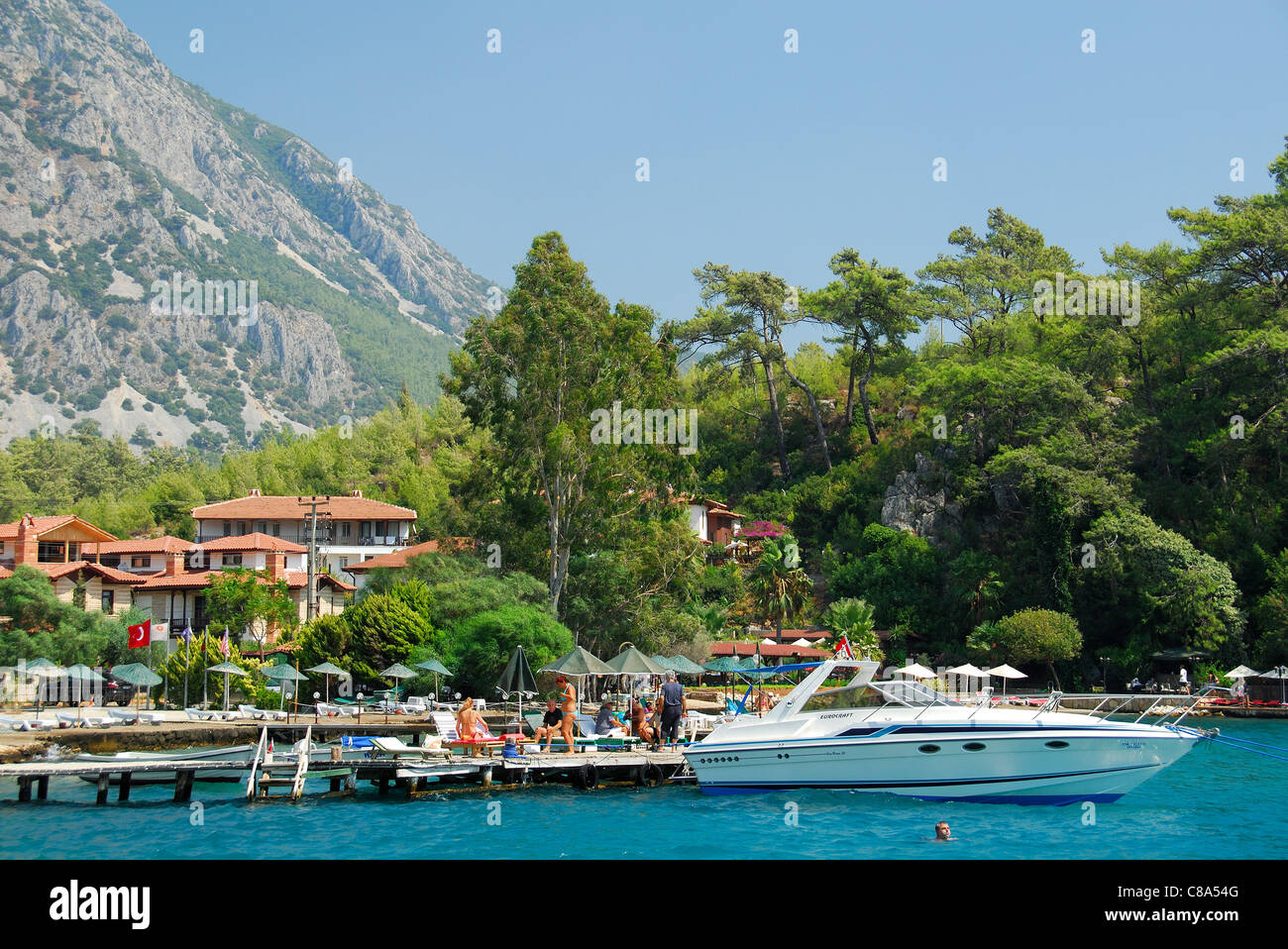 AKYAKA, TURKEY. A view of the hamlet of Iskele outside Akyaka on the Aegean coast. 2011. - Stock Image