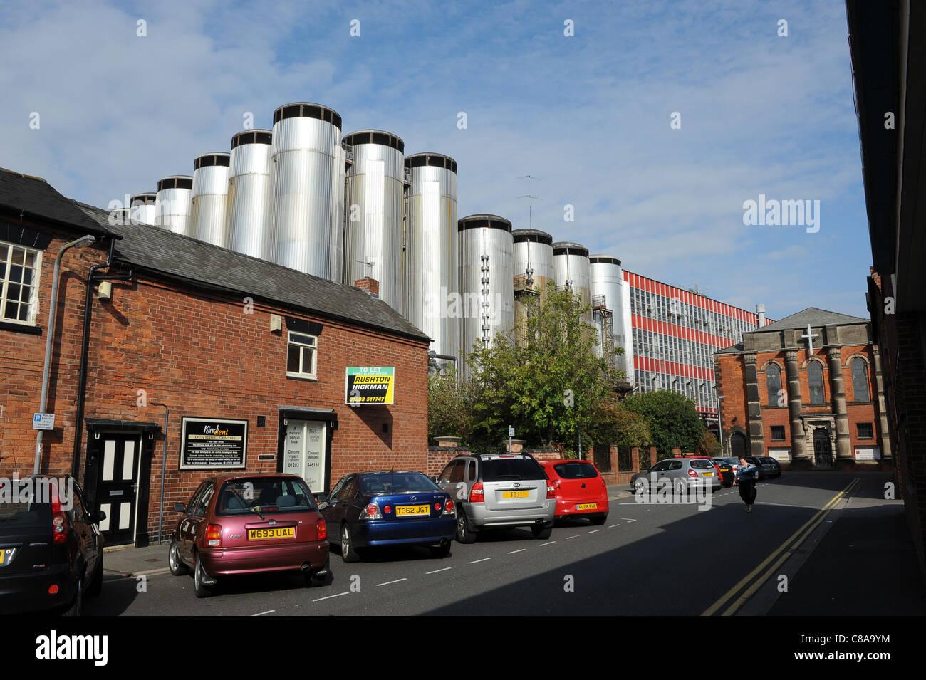Molson Coors Burton Brewery at Burton-on-Trent Staffordshire England Uk - Stock Image