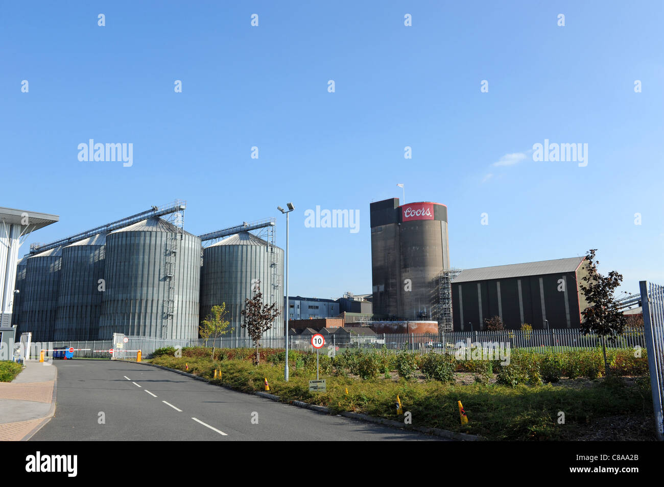 Coors Brewery at Burton-on-Trent Staffordshire England Uk - Stock Image