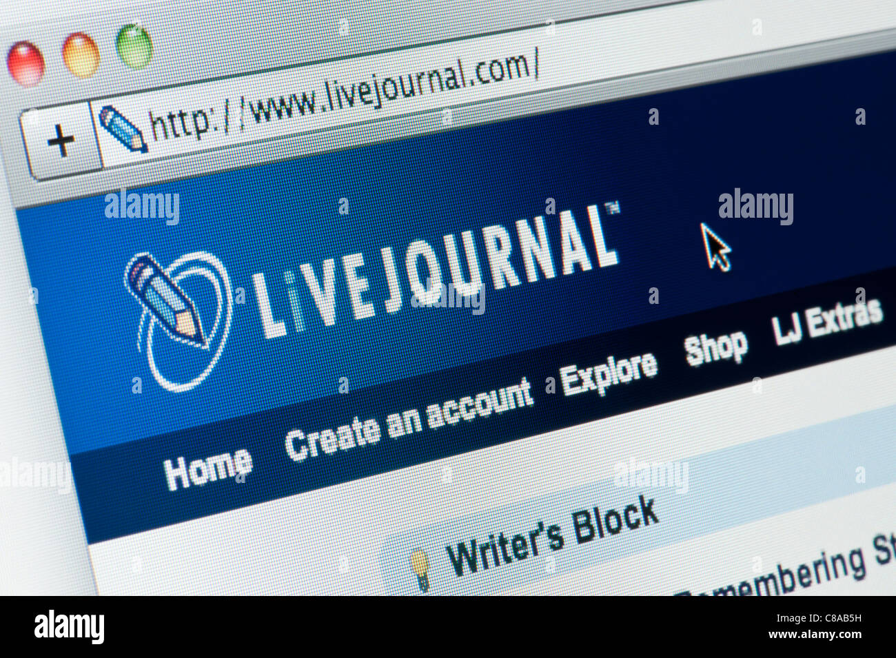 Close up of the Live Journal logo as seen on its website. (Editorial use only: print, TV, e-book and editorial - Stock Image