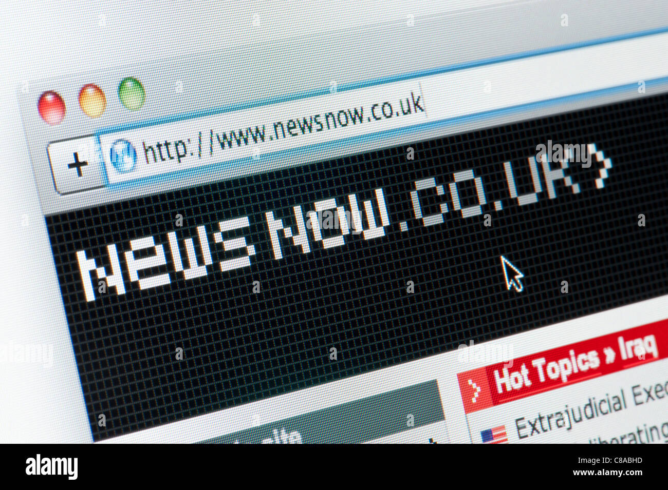 Close up of the News Now logo as seen on its website. (Editorial use only: ­print, TV, e-book and editorial - Stock Image