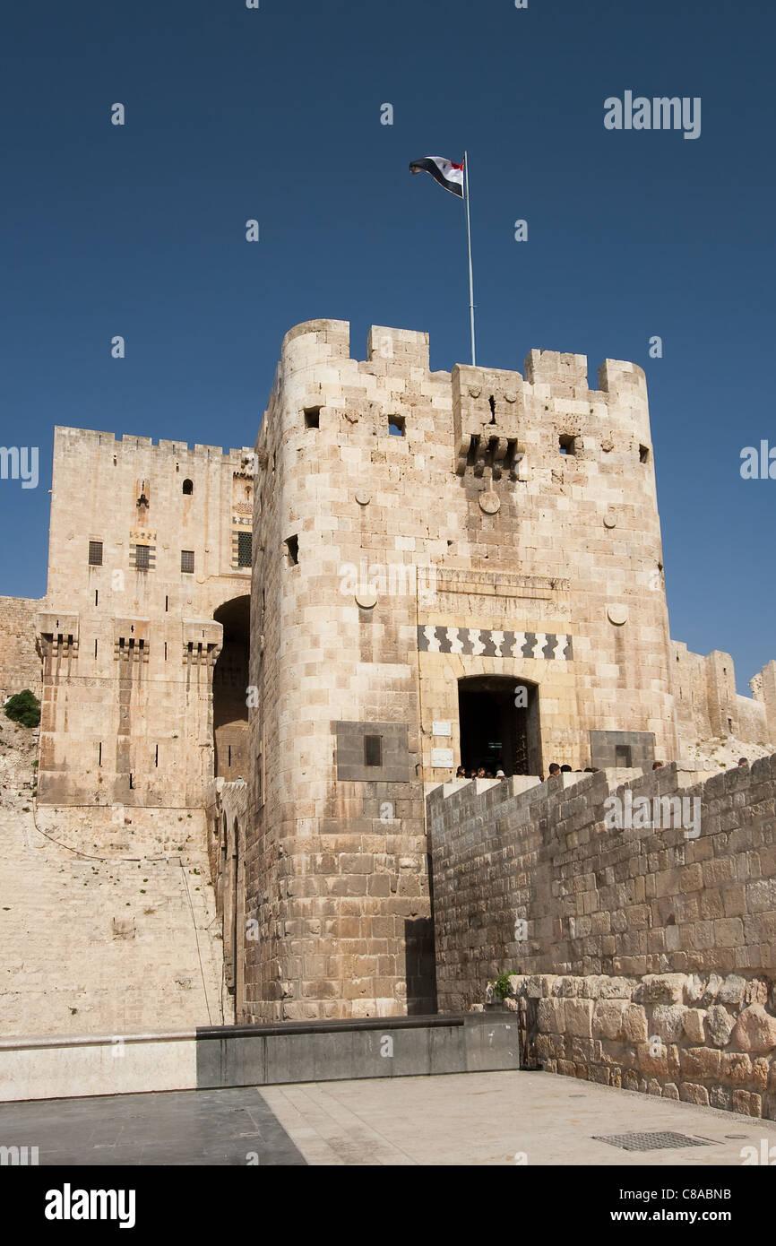Citadel of Alepo, Syria - Stock Image