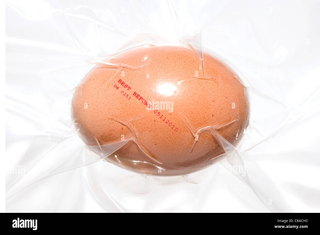 Egg vacuum-packed - Stock Image