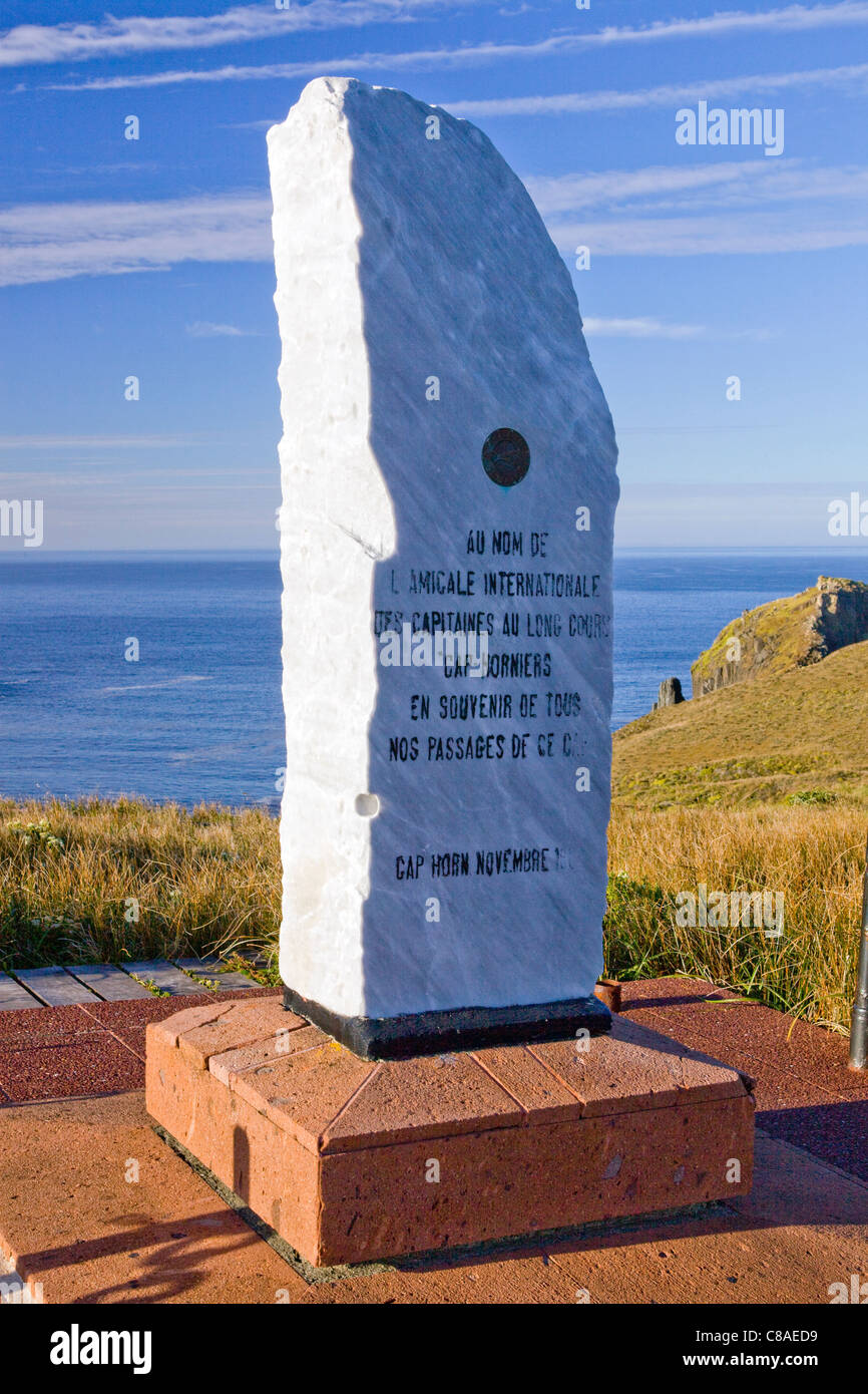 A monument that is part of the Cape Horn Memorial in Chile. - Stock Image