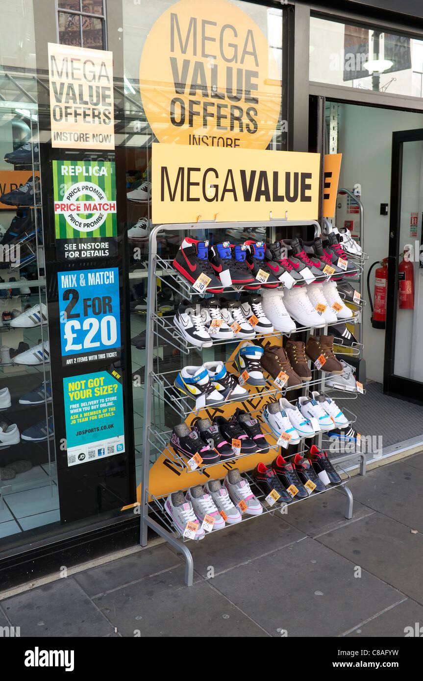 sale outside a shoe shop Stock Photo