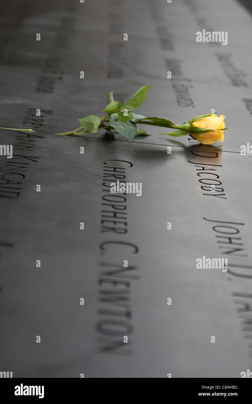 The names of every person who died in the terrorist attacks of February 26, 1993 and September 11, 2001 - Stock Image