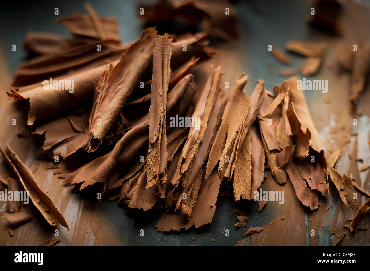 Chocolate flakes - Stock Image