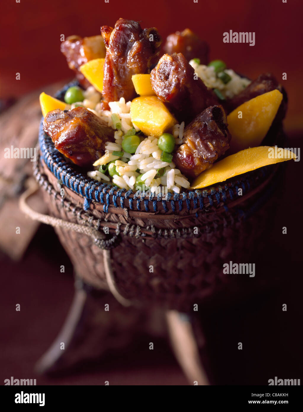 Caramelized pork spare-ribs - Stock Image
