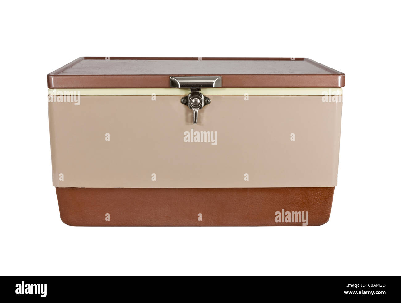 Retro ice chest cooler from the early 1970's. - Stock Image