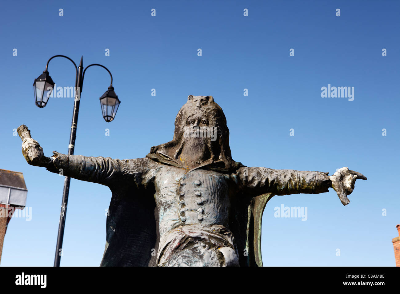 Statue of Dr William Price, 19th Century surgeon and Druid, Llantrisant. Wales, UK - Stock Image
