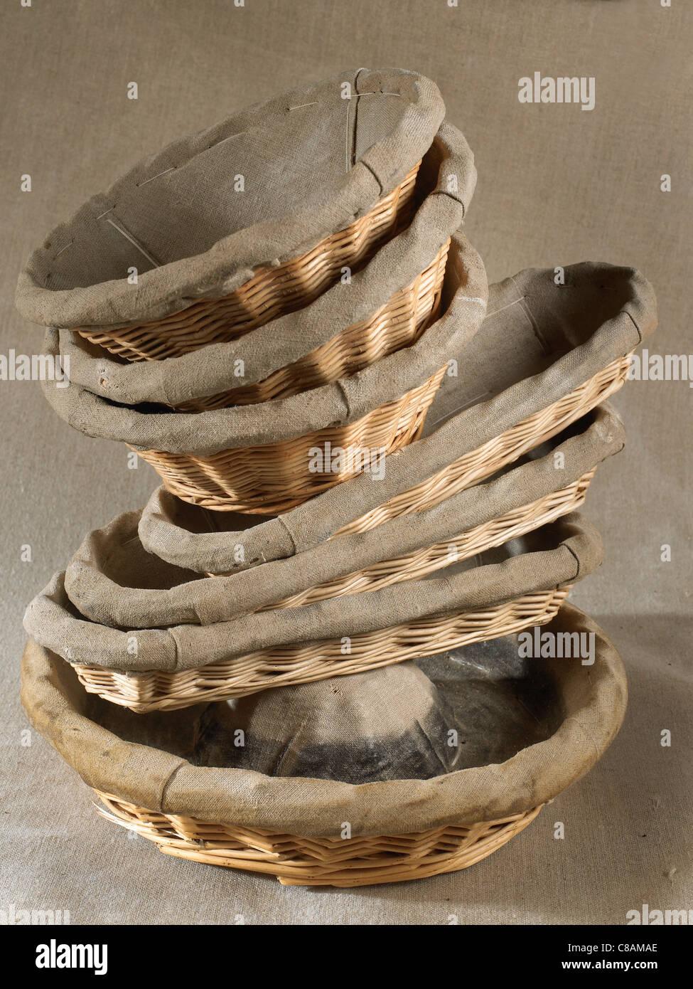 Bread baskets - Stock Image