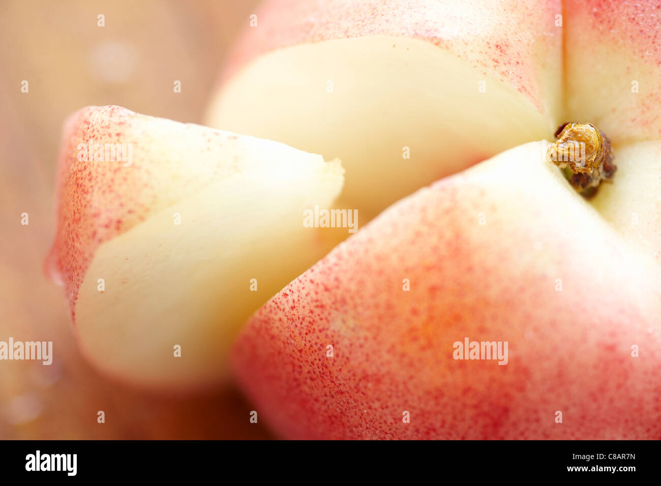 White peach - Stock Image