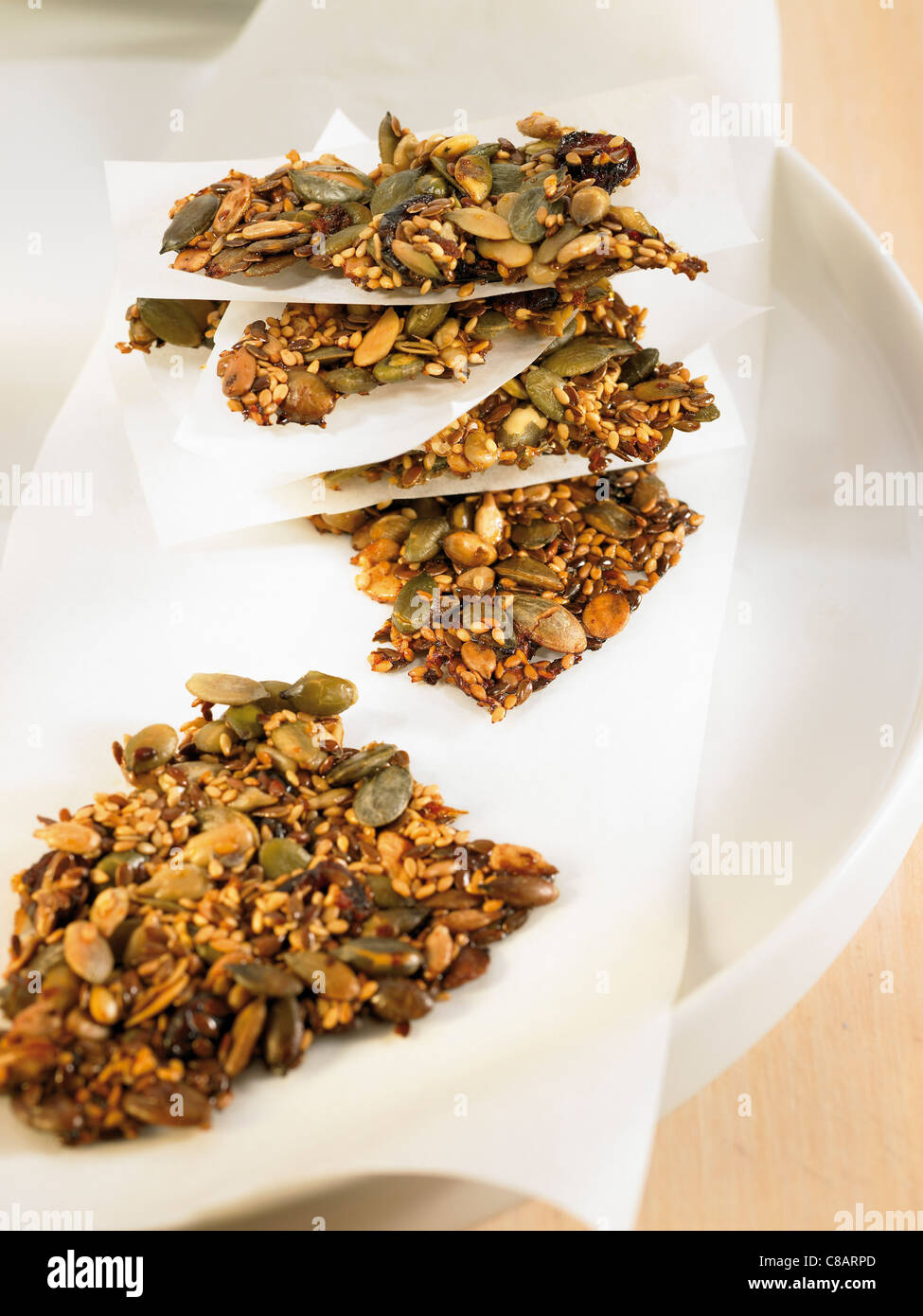 Seedy snacks - Stock Image