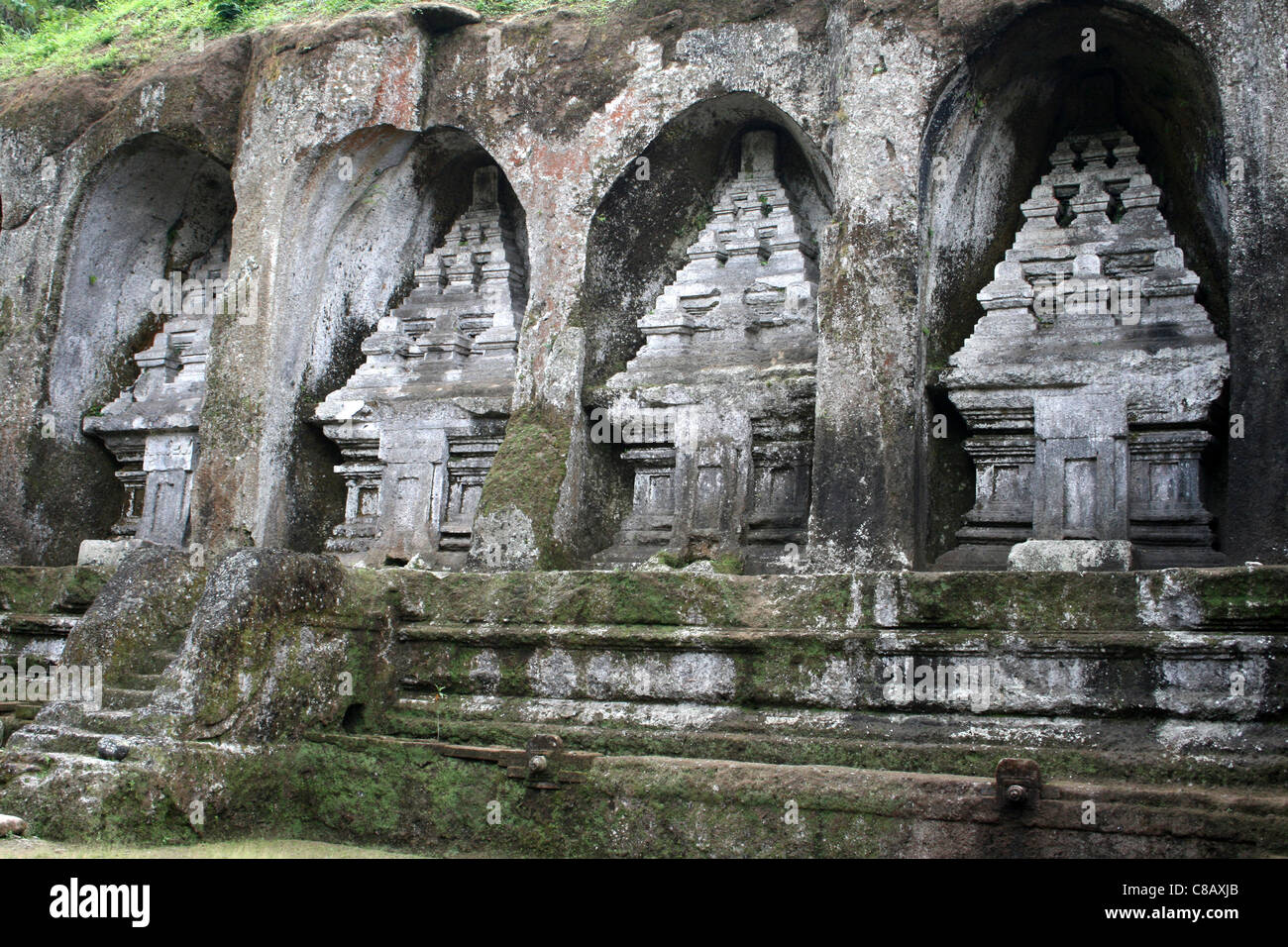 Rock-cut Candi (Shrines) At Gunung Kawi, Bali Stock Photo