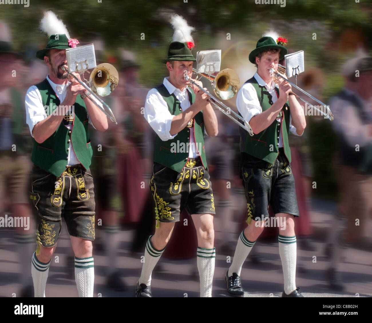 DE - BAVARIA: Traditional Bavarian Musicians - Stock Image